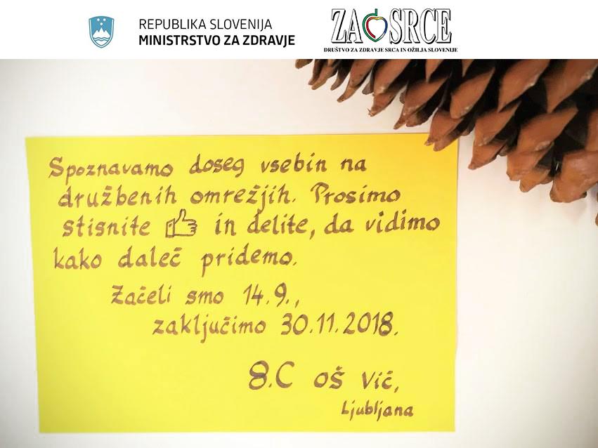 Slika učencev OŠ Vič Ljubljana, ki je septembra zaokrožila svet.