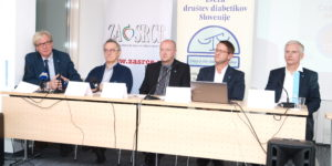 prof. dr. Zlatko Fras , prim. Matija Cevc, Robert Gratton, prof. dr. Andrej Janež, prof. dr. Tadej Battelino
