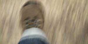 tesnoba in zamegljena slika stopala